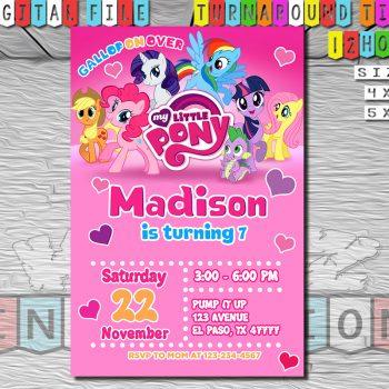 MLP, My Little Pony Birthday Invitations