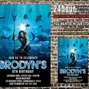 Aquaman Invitation