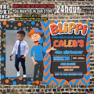 blippi, Blippi Invitations Blippi birthday Invitations
