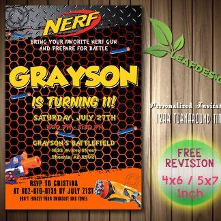 Nerf Birthday Invitations