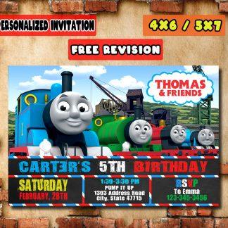 birthday invitation, thomas birthday invitations