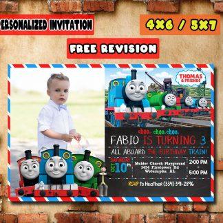 Thomas the train birthday invitation, thomas and friend birthday invitation