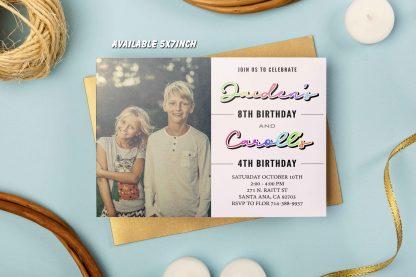 SIbling birthday invitations