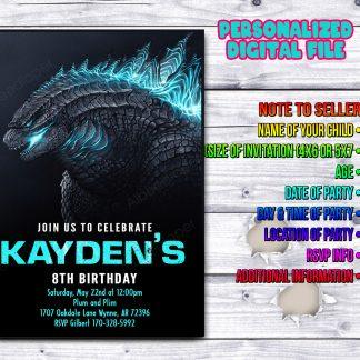 Godzilla Invitations