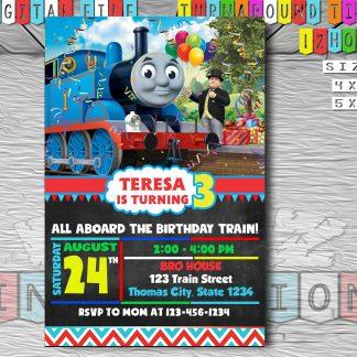 Thomas train, thomas the train, birthday invitation, Thomas and friends