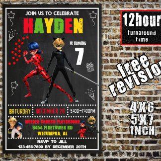 miraculous ladybug invitation, superhero invitation, miraculous ladybug, miraculous ladybug birthday invitation, miraculous ladybug party, miraculous ladybug birthday
