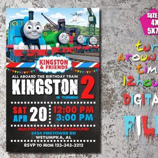 Thomas train, thomas the train, birthday invitation